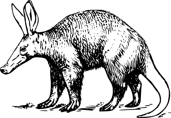 Aardvark clip art Free vector in Open office drawing svg ( .svg.