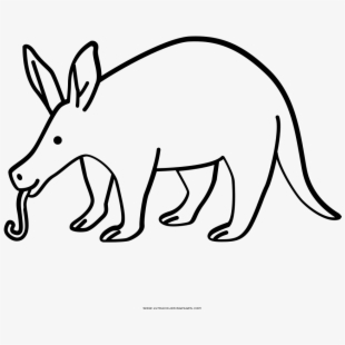 Aardvark Black And White , Transparent Cartoon, Free.