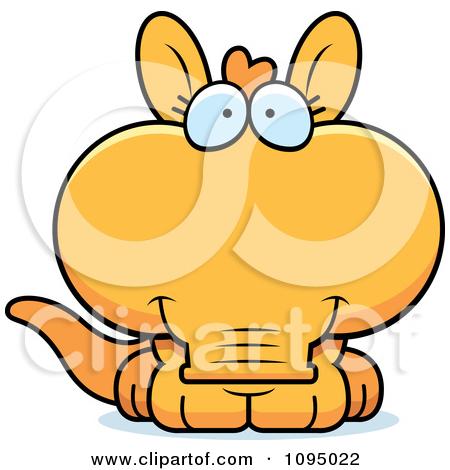 Clipart Cute Orange Aardvark.