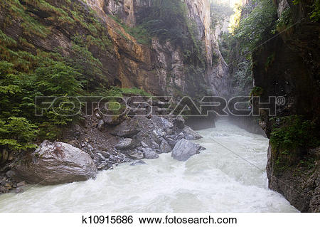 Stock Illustration of River Aare k10915686.