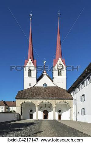 Picture of Muri Abbey, main entrance, Muri, Aargau Switzerland.