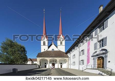 Stock Image of Muri Abbey, main entrance, Muri, Aargau Switzerland.