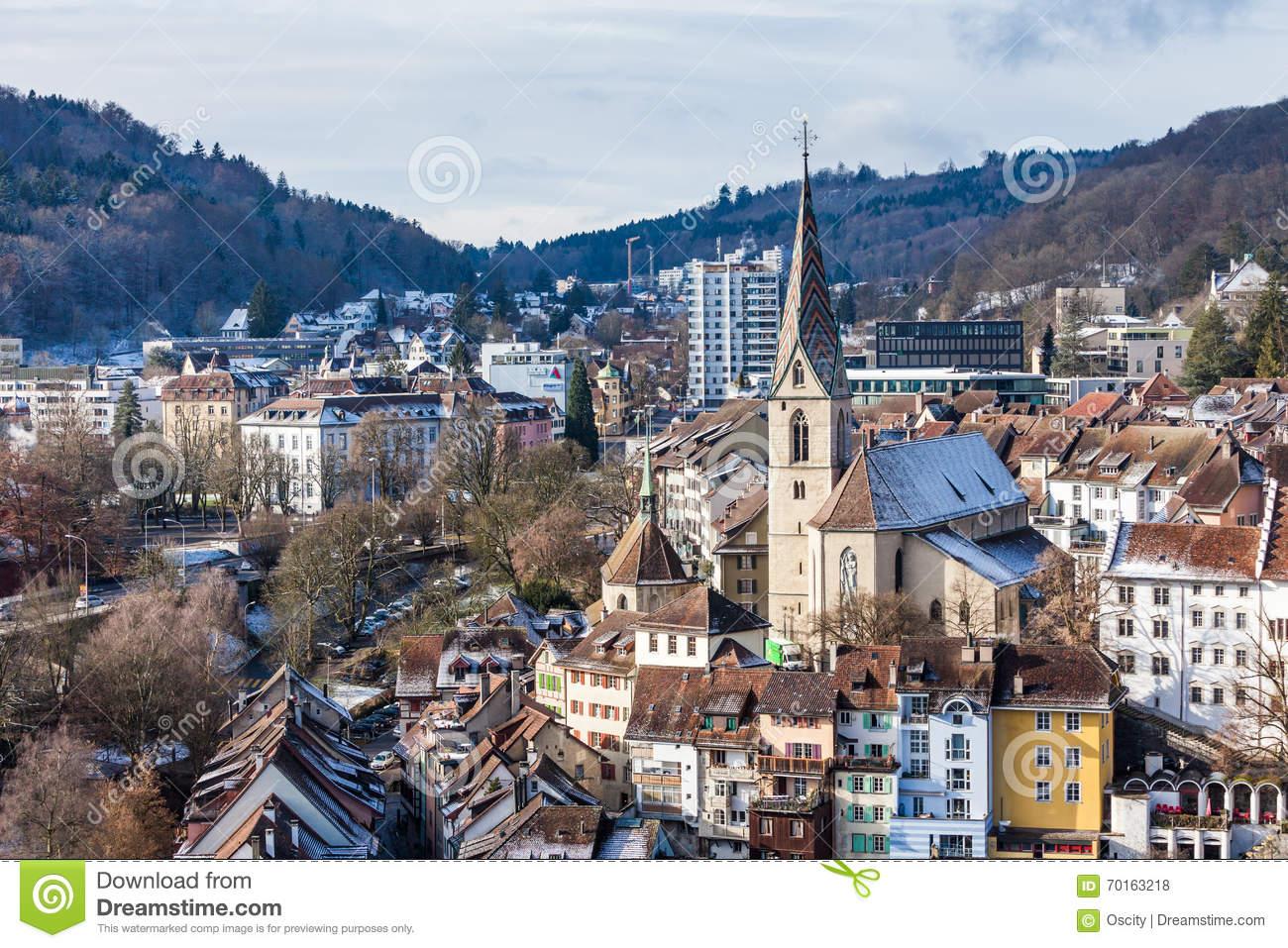 BADEN, AARGAU, SWITZERLAND editorial stock photo. Image of.