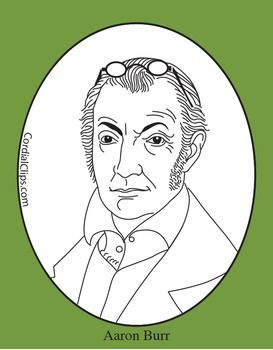 Aaron Burr Clip Art, Coloring Page, or Mini.