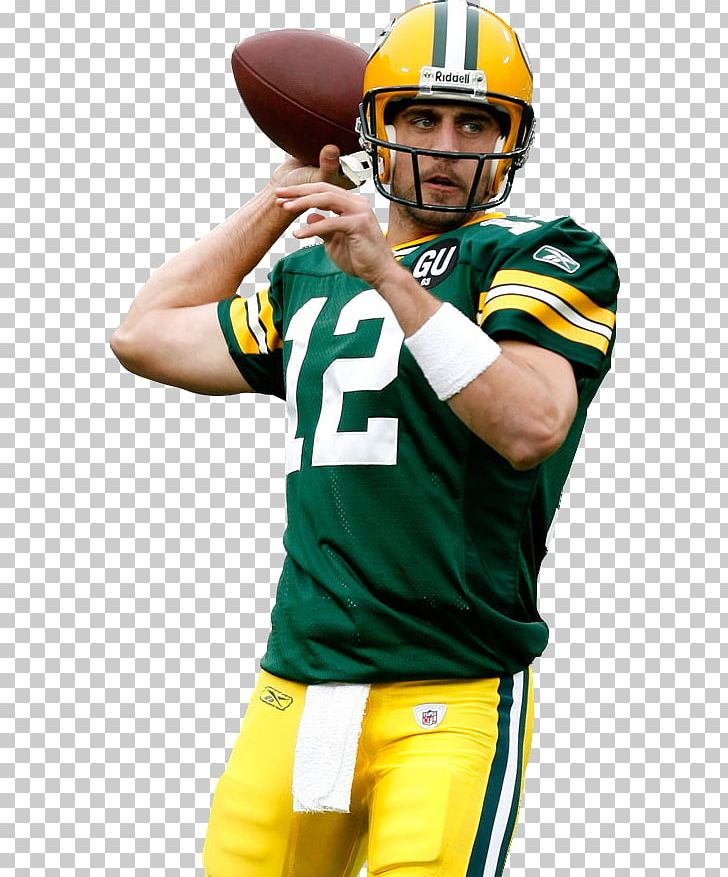 Aaron Rodgers American Football Helmets Green Bay Packers NFL PNG.