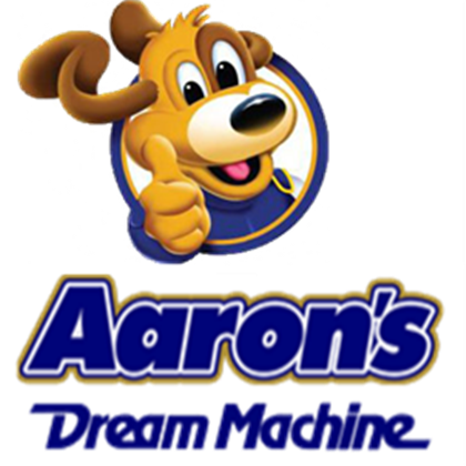 aaron\'s dream machine logo.