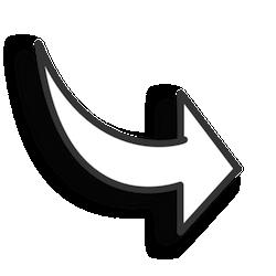 Fancy Arrow Black White Clipart.