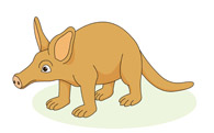 Aardvark animal » Clipart Station.
