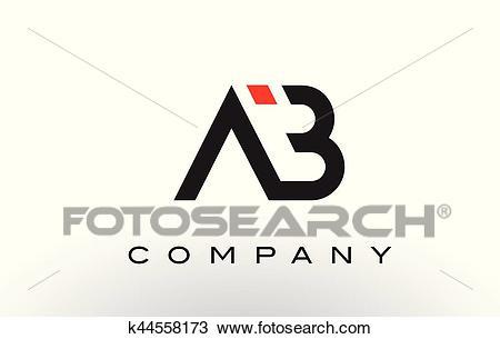 AB Logo. Letter Design Vector. Clipart.