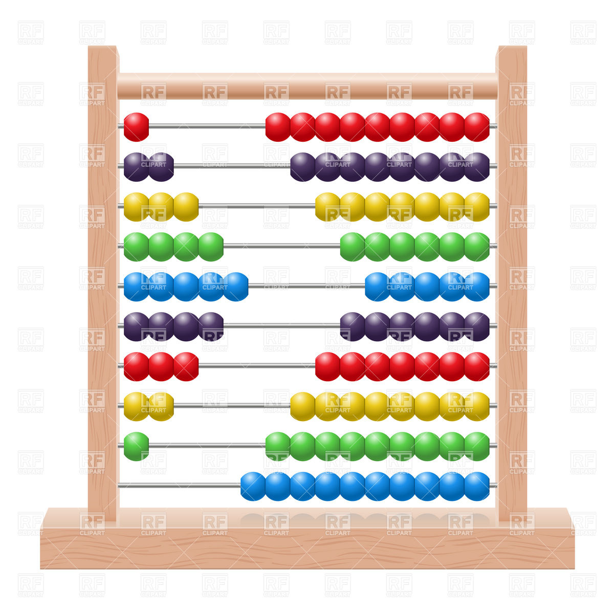 School wooden abacus with rainbow colored beads Vector Image of.