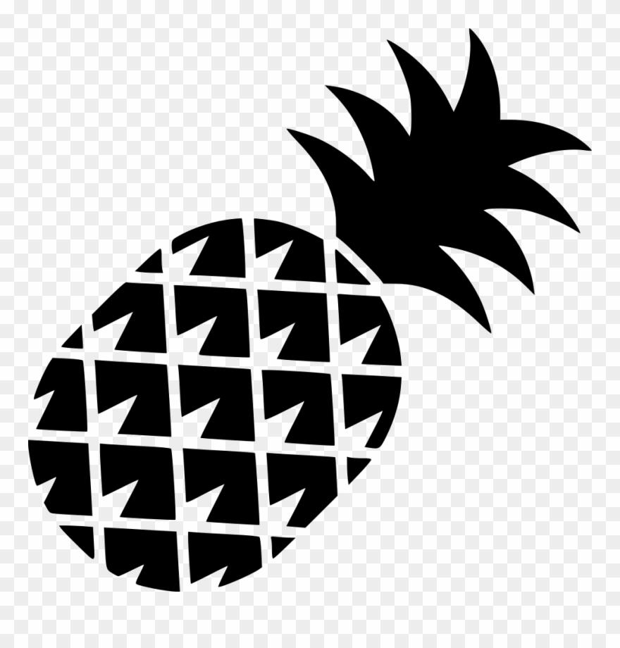Pineapple Outline Png Transparent Background.