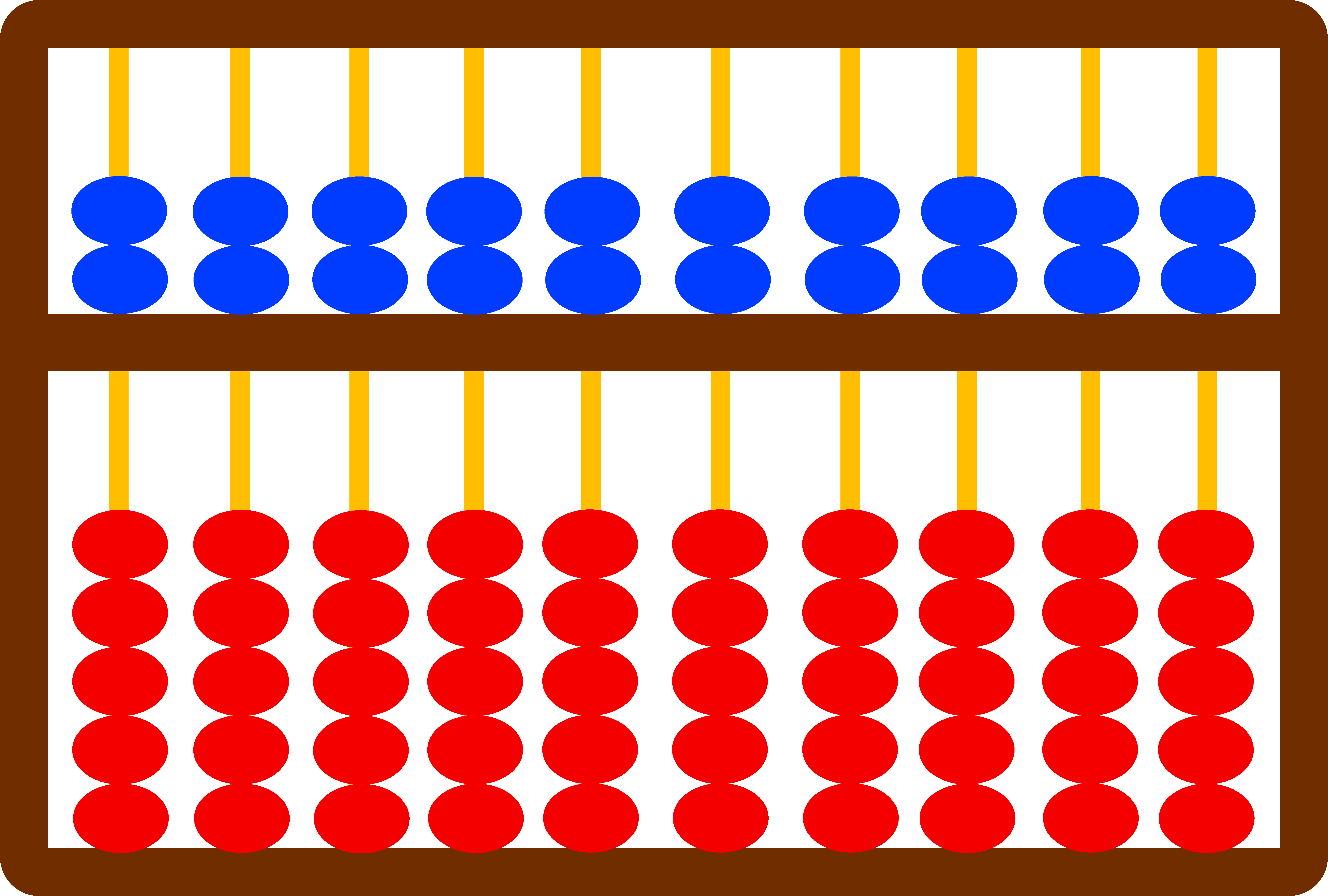 Abacus Clip Art Illustration.