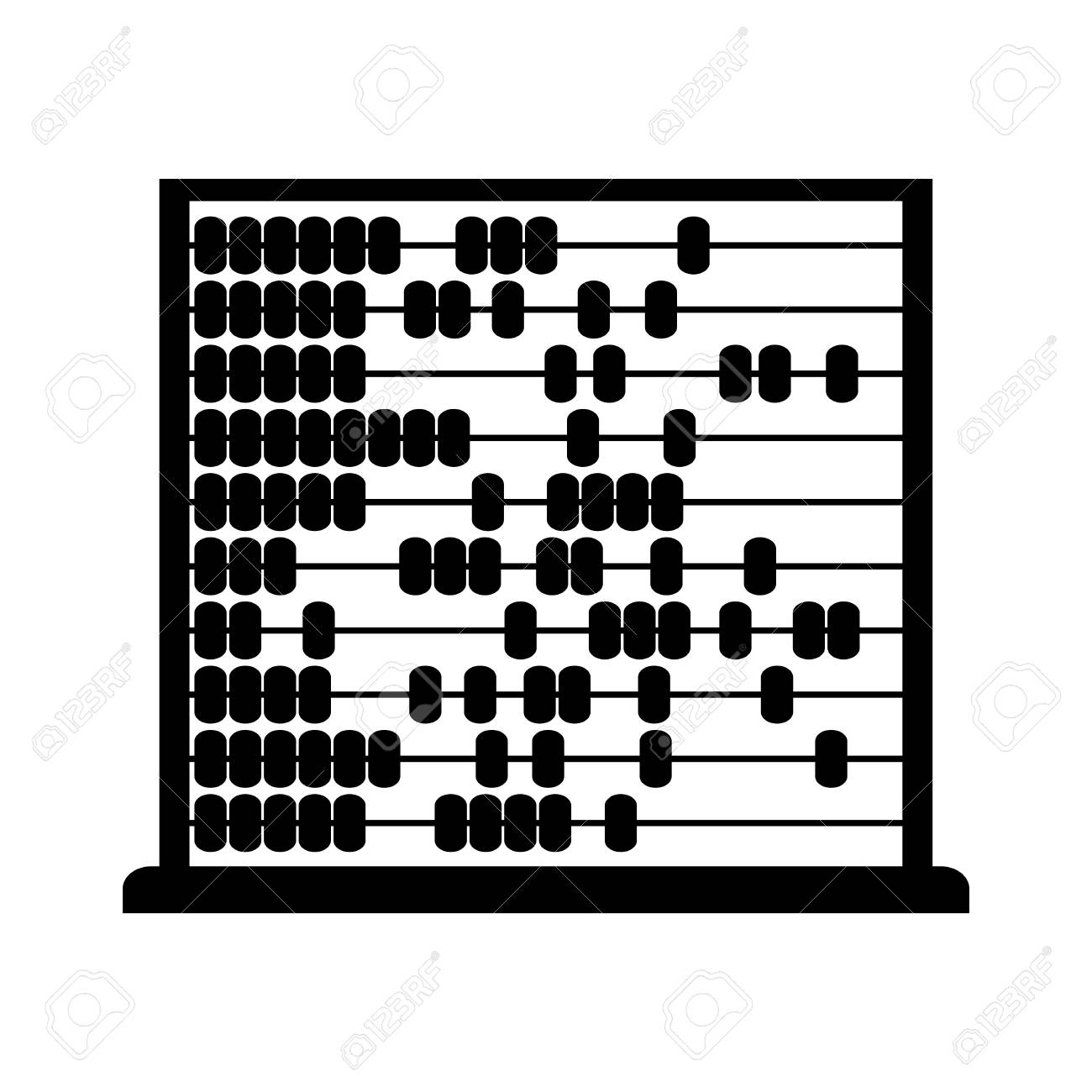 Black abacus vector icon.
