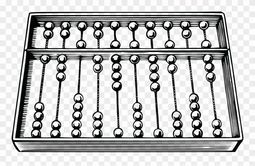 Roman Abacus Black And White Mathematics Counting.