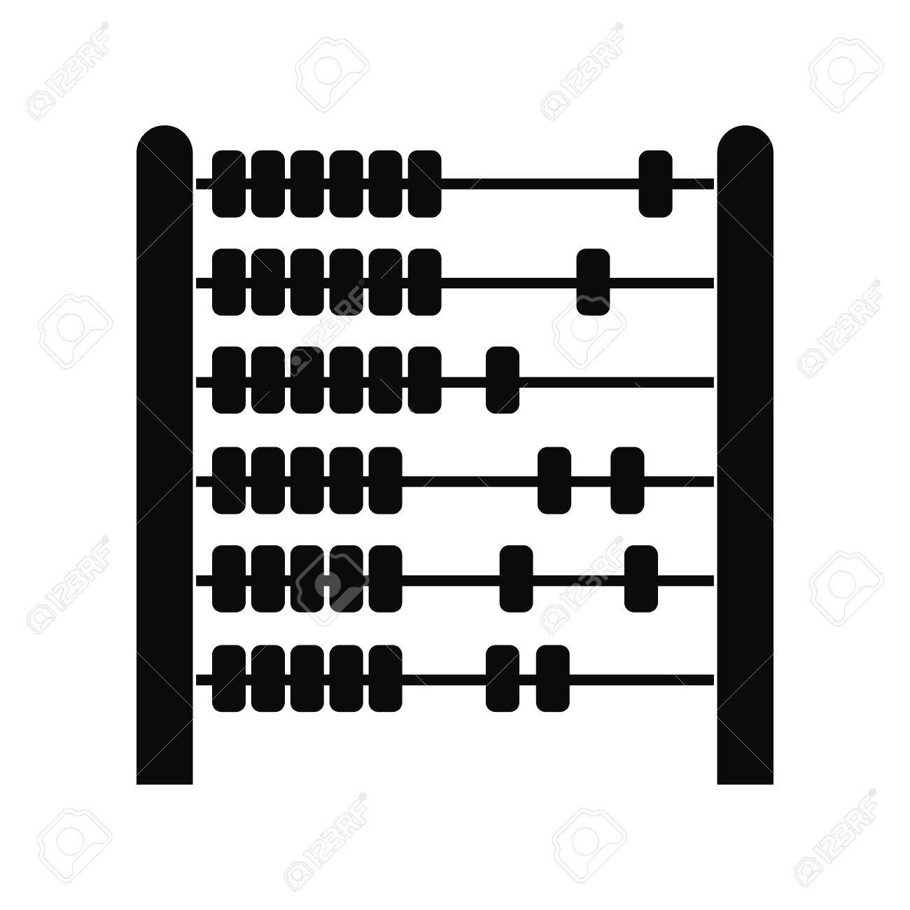 Children abacus black simple icon isolated on white background.
