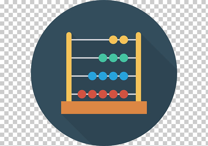 Abacus Counting Mathematics Number Computer Icons.