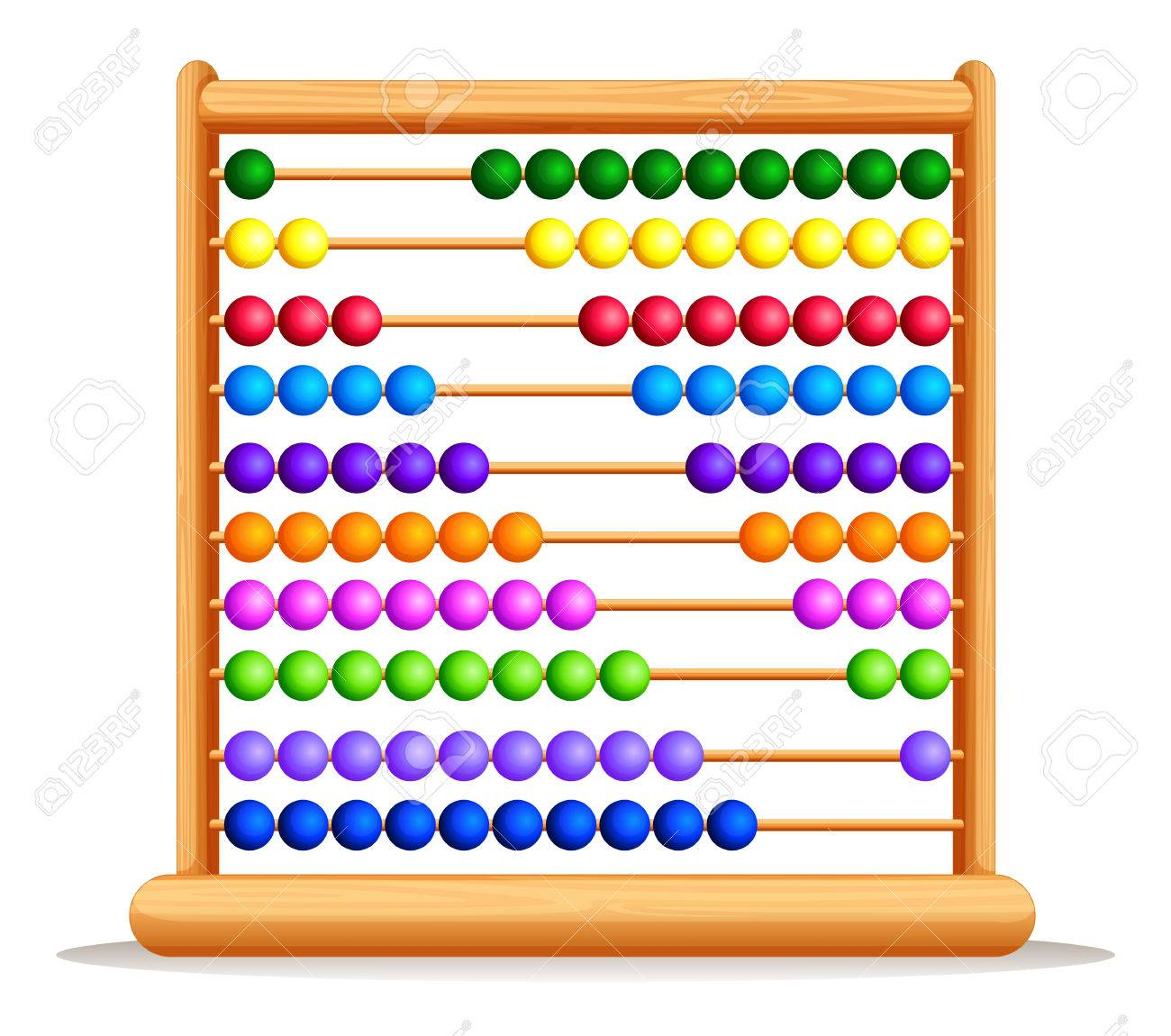 Colorful abacus with wooden frame » Clipart Station.