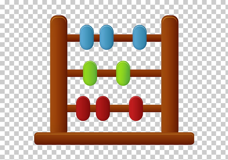 Line abacus area , Abacus, brown, blue, green, and red.