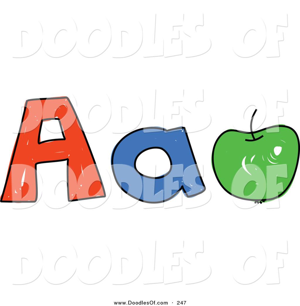 Letter A Apple Clipart.