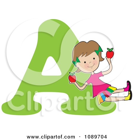 Letter A Apple Clipart.