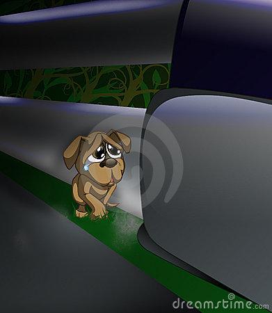 Abandoned Dog Stock Illustrations.