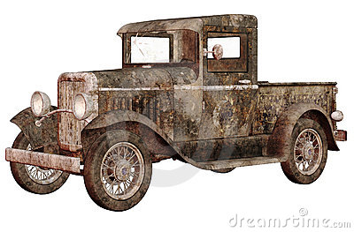 Rusty car clipart.