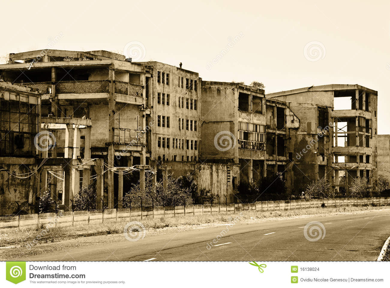 Old Abandoned Buildings Stock Images.
