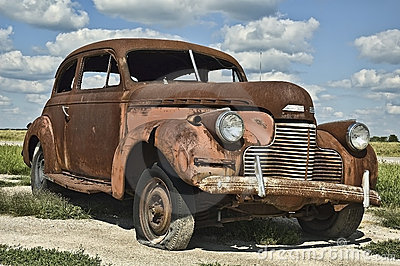 Old rusty car clipart.
