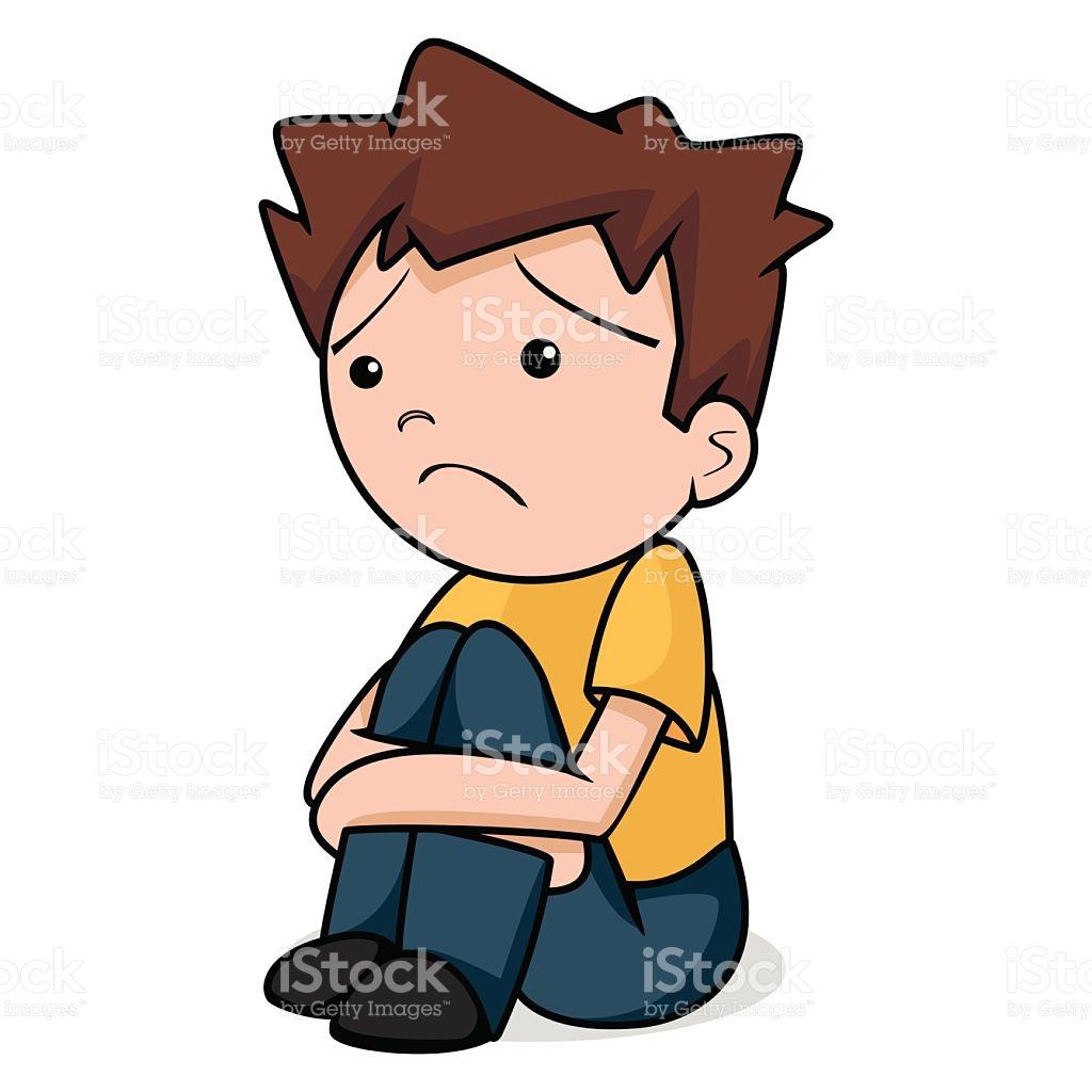 Sad Child Vector Illustration stock vector art 538258297.