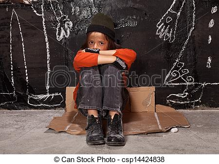 Stock Photos of Orphan child on the street concept.