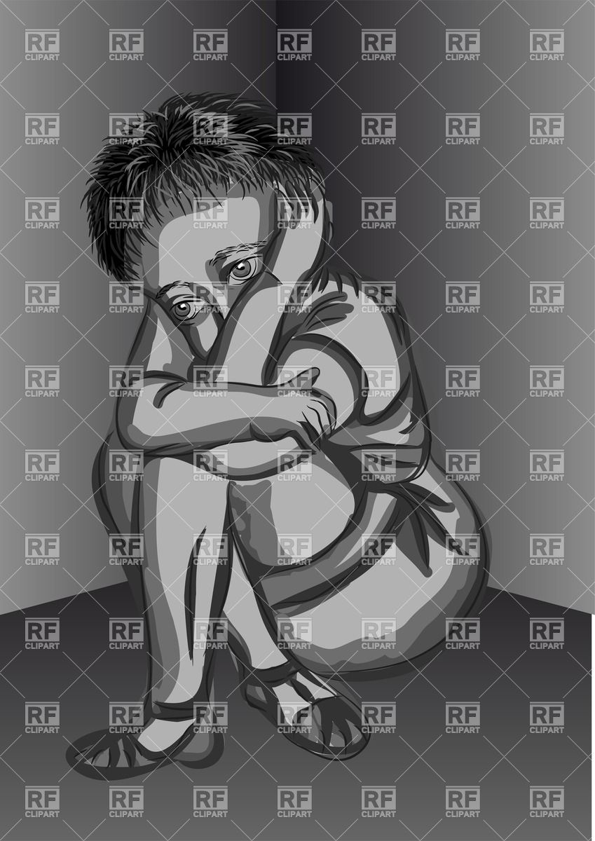 Abandoned child clipart.