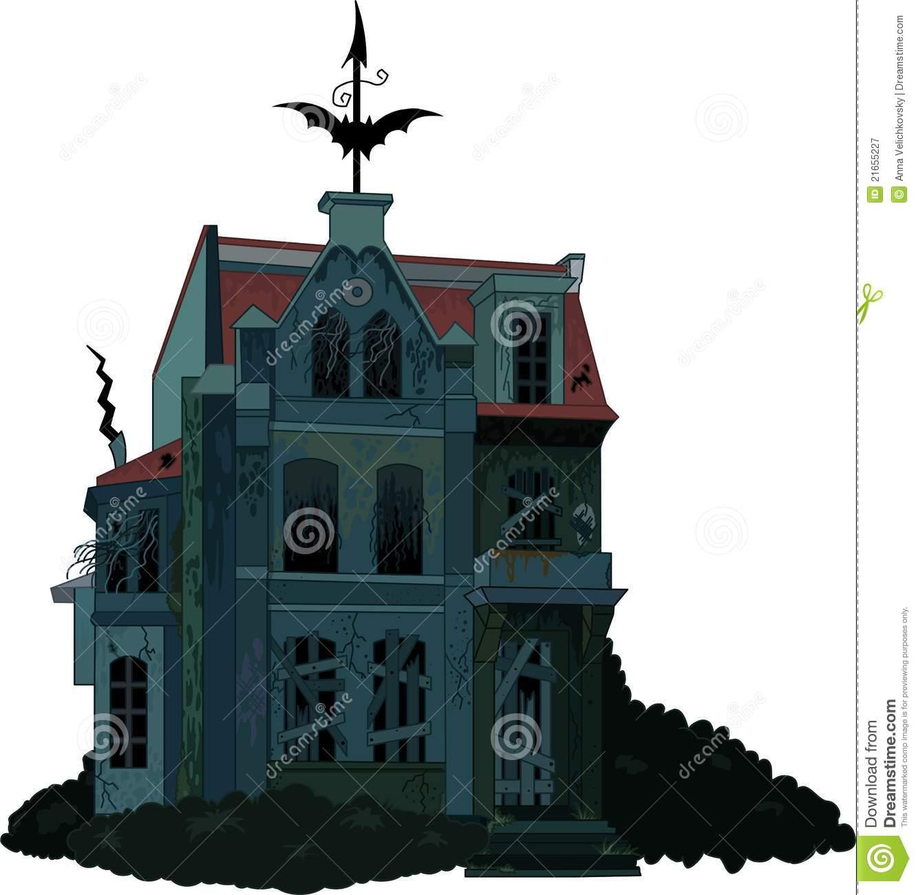 Cartoon Abandoned House Stock Illustrations.