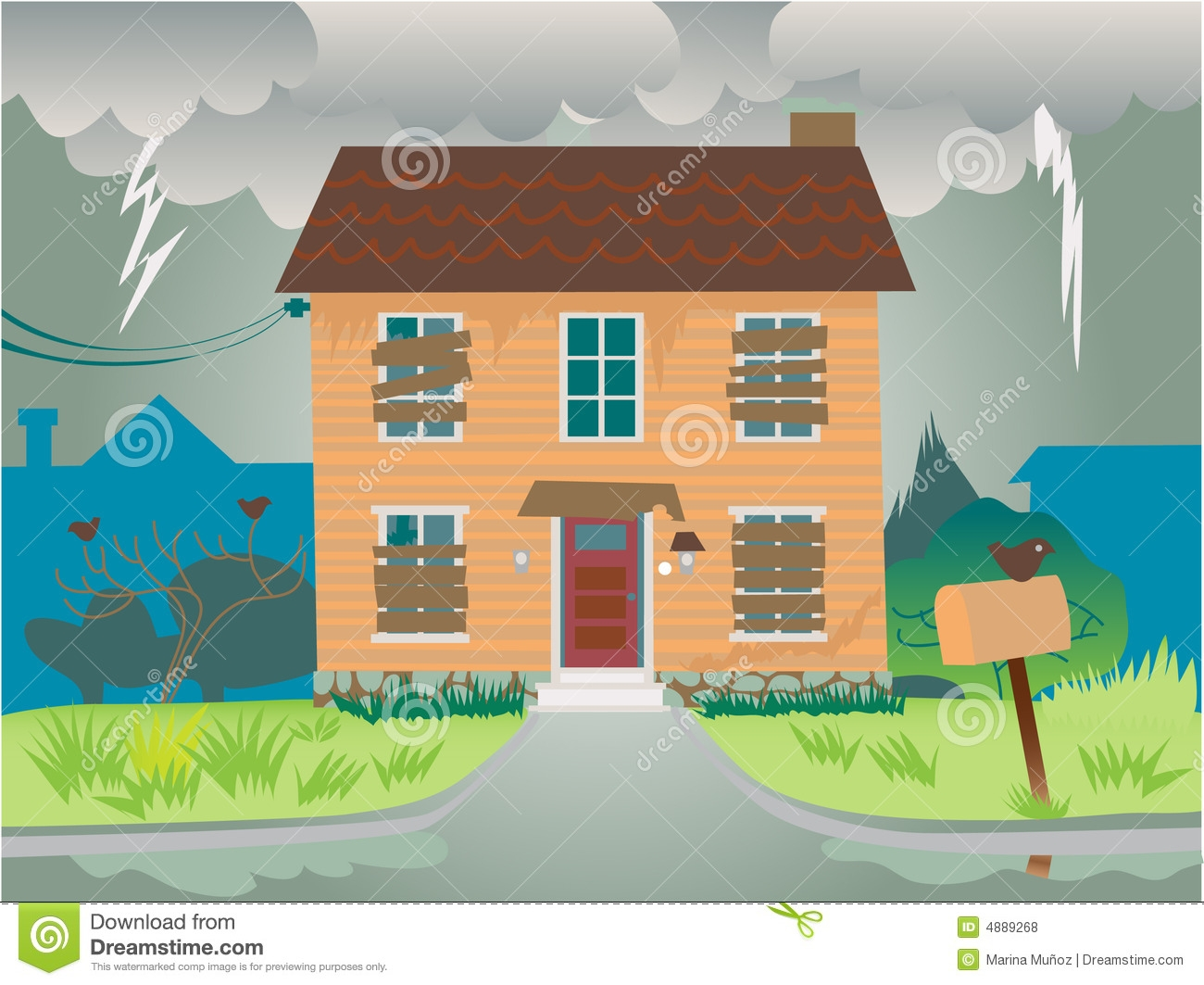 Abandoned House Clipart.