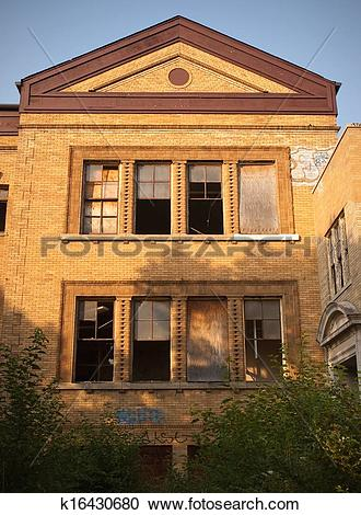 Stock Photography of Abandoned School House k16430680.