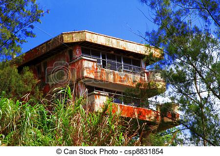 Stock Photo of Old abandoned school house on the mountain.