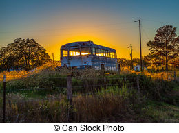 Stock Photos of Abandoned school bus.