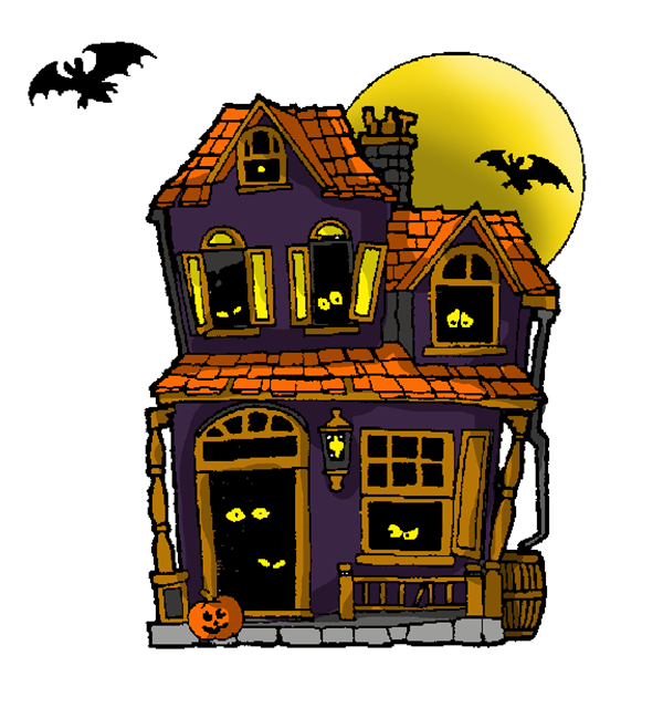 Abandoned haunted house clipart.