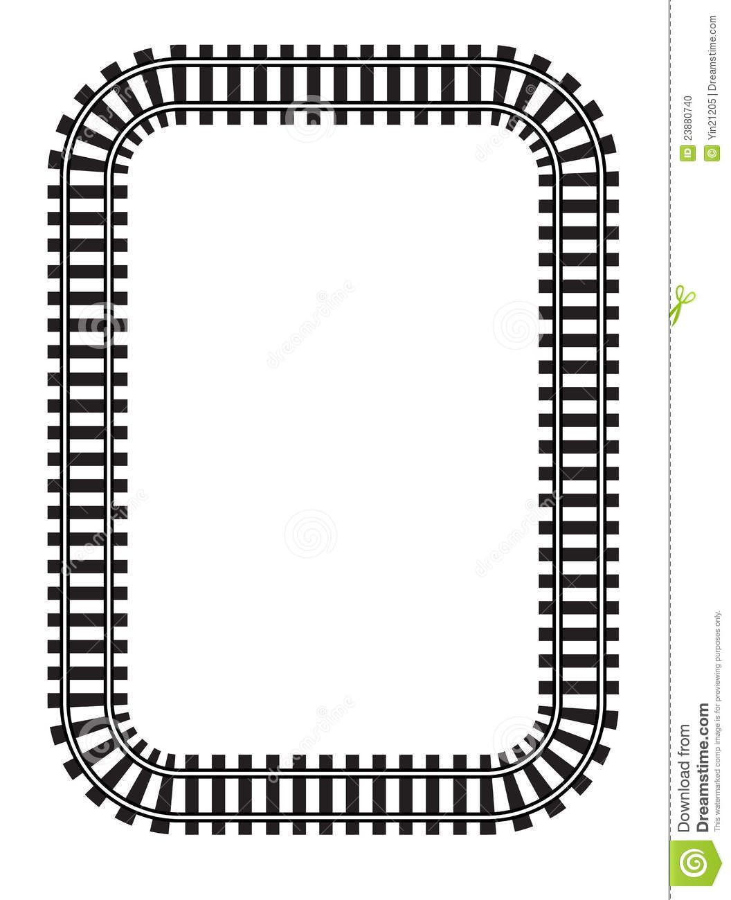 train track clipart.