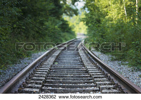 Stock Photo of Abandoned railway track near Clecy, Swiss Normandy.