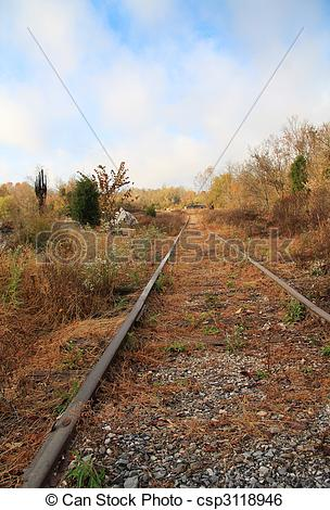 Stock Image of Abandoned Tracks.