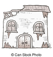 EPS Vector of Abandoned house icon.