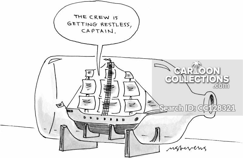 Ship\'s Captain Cartoons and Comics.
