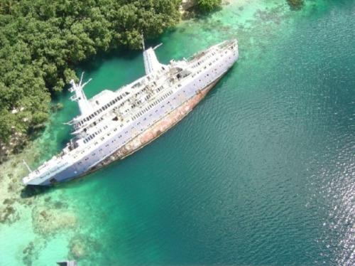 abandoned ship.