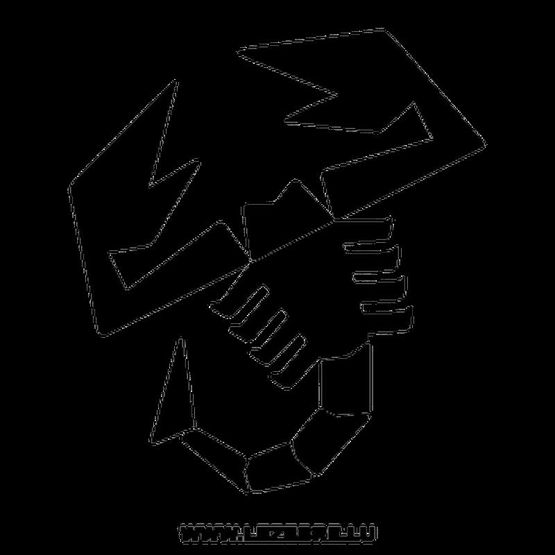 Abarth Logo Scorpion Decal.