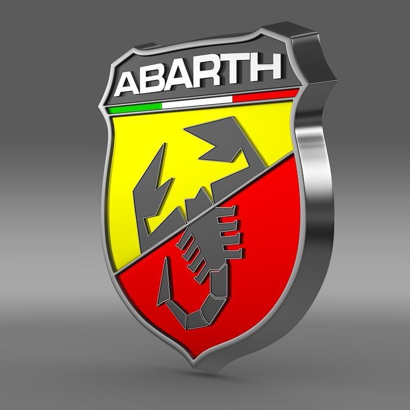 Abarth Logo 3D Model in Parts of auto 3DExport.
