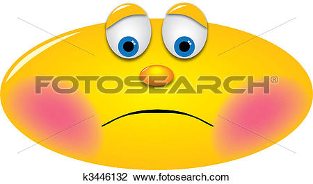 Clip Art of Embarrassed Smiley k3446132.