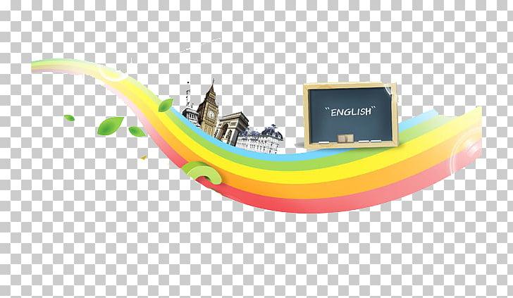 ABC learning pad Rainbow, rainbow PNG clipart.