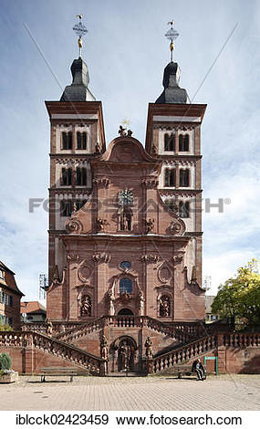 Stock Photograph of Benedictine abbey church of the former.