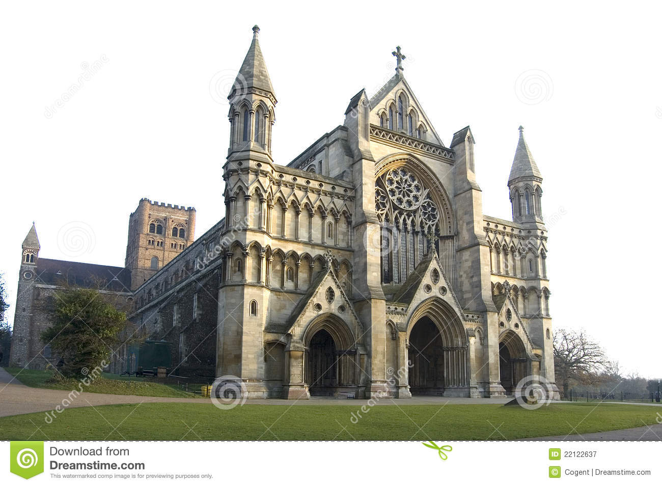 Abbey Church And Cathedral, St Albans Royalty Free Stock.