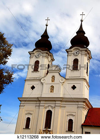 Pictures of Abbey Church in Tihany, Hungary k12113268.
